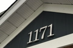 "Residential House Numbers | Material: 3/8"" aluminum 