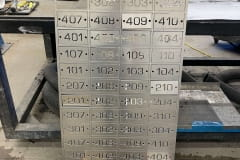 Vivid House Number | Residential Room Numbers | Aluminum plate cutouts fresh from the CNC