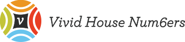Vivid House Numbers Logo