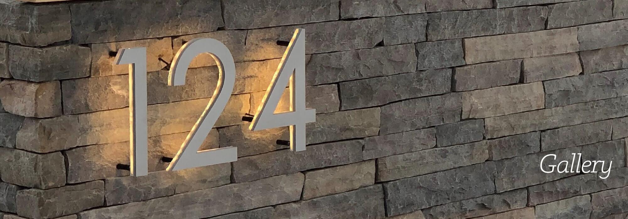Vivid House Numbers Gallery